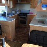 Kitchen area in bronze