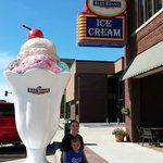 Fun times at the Blue Bunny Ice Cream Parlor!