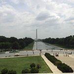 View of the Reflecting Pool, Nat'l WWII Memorial & Washington Monument from the Lincoln Memorial