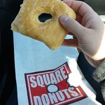 Square donut with square donut bag