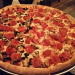 Huge and yummy pizza