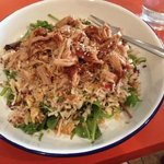 Asian pulled pork salad was so delicious