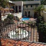 Jardim interno - piscina