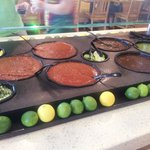 Fresh salsa bar