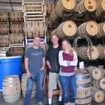 Just hanging out with some Whiskey barrels and the owner at Oregon Spirit Distiller