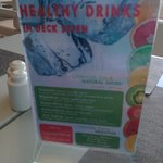 healthy drinks (they are not included in the happy hour)