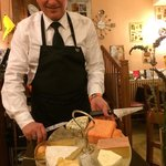 Fantastic service and a beautiful cheese platter.