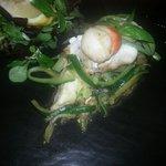 Gallinella  con capesante  e  zucchine