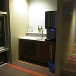 Water station in hallway outside our room