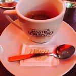 Efter den goda pastan så passar en espresso utmärkt. Vilken kanonkväll det blev. Nu en välbehövl