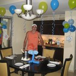 Our room decorated by our concierge,Leidy, for my husband's birthday