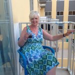 Sitting on the balcony having a wee drink