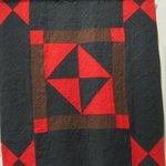 Firecracker quilt circa 1870's