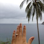 View from our room and my lovely pearl engagement ring :)