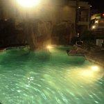 la pisina de noche !