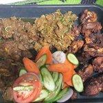 Nepali fry chicken and salad local raksi sang khana ko lagi specially