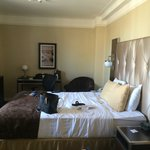 Room was nicely furnished but small - standard in NYC