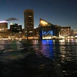 Water Taxi View at Night