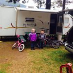 Camping Space #4 at Lone Fir in Cougar, WA. Great spot if you have kids. It is close to the play