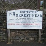 Signage of Orrest Head