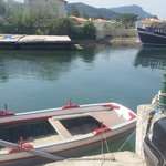 old man ferrys you across river for 1 euro each kids go free or 20 - 25 min walk back round  to