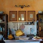 Quaint kitchen area