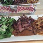 Steak w/fries and salad