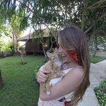 Kela and her favorite cat