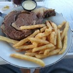 Great prime rib at sunny banks great cooks and great food