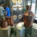 Bourbon distillery display