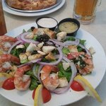 Shrimp Caesar salad...yummy, and guaranteed to ward off vampires!