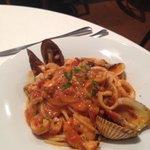 Spaguetti com frutos do mar