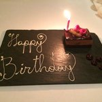 Special birthday touch for my wife. Compliments of the Dorchester!