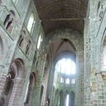 Inside the abbey at the highest point