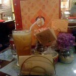 Peach Tea at Cafe Mary Grace