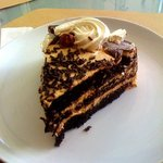 Choco Hazelnut Cake Slice
