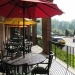 Patio outside of the Red Fox Tavern