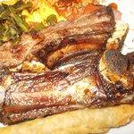 delicious ribs, mac n cheese & collard greens