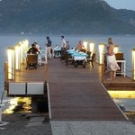 Candlelit dinner on the jetty