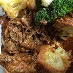 Roast beef and pud