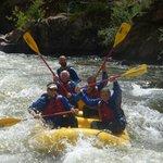 Cruising the rapids...