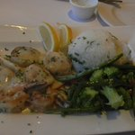 $24 scallops with brocollini and rice