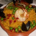 Seafood paella at the Lobby lounge