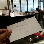 Great service from the restaurant staff. Their mamager left me this beautiful message compliment