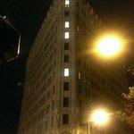 The stately EM' at night.