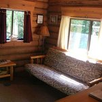 Bear's Den Cabin - Living Area/Futon