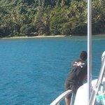 Arriving at Paradisde, Beqa Island