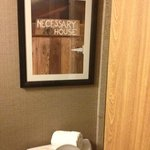 Cute sign in the bathroom :)