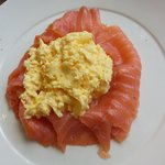 Smoked salmon & scrambled eggs - very good breakfast & lovely service