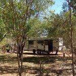 Edith Falls caravan site.